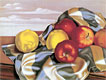 Still Life with Apples and Lemons | Tamara de Lempicka (inspired by)