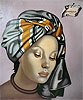 The Grey Turban | Tamara de Lempicka (inspired by)