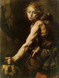 David with the Head of Goliath, c.1625 by Tanzio da Varallo | Painting Reproduction