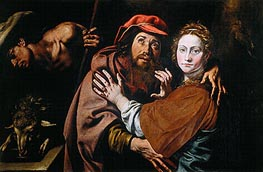 Jacob and Rebecca (Conception of Saint Anne), c.1615 von Tanzio da Varallo | Gemälde-Reproduktion