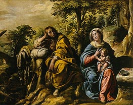 The Rest on the Flight into Egypt, c.1625/30 von Tanzio da Varallo | Gemälde-Reproduktion
