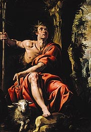 St. John the Baptist in the Wilderness, c.1627/29 by Tanzio da Varallo | Painting Reproduction