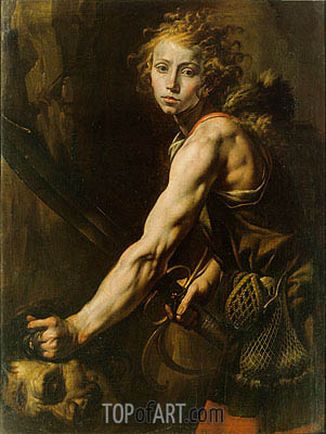 David with the Head of Goliath, c.1625 | Tanzio da Varallo| Painting Reproduction