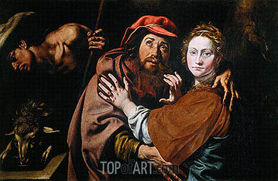 Jacob and Rebecca (Conception of Saint Anne), c.1615 | Tanzio da Varallo | Painting Reproduction