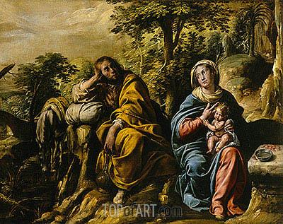 Tanzio da Varallo | The Rest on the Flight into Egypt, c.1625/30