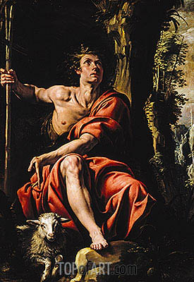 St. John the Baptist in the Wilderness, c.1627/29 | Tanzio da Varallo | Painting Reproduction