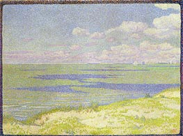 View of the River Scheldt, 1893 by Rysselberghe | Painting Reproduction