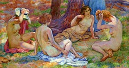 Four Bathers, undated by Rysselberghe | Painting Reproduction