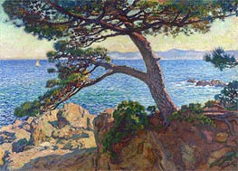 Le Pin de la Fossette, 1919 by Rysselberghe | Painting Reproduction