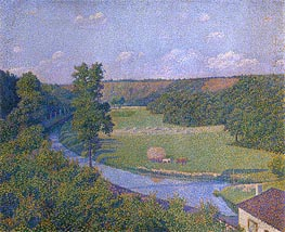 The Valley of the Sambre, b.1926 by Rysselberghe | Painting Reproduction