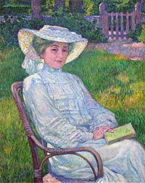 Lady in White (Portrait of Mrs. Theo Van Rysselberghe) | Rysselberghe | Gemälde Reproduktion
