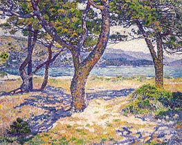 The Mediterranean at Le Lavandou, 1904 by Rysselberghe | Painting Reproduction