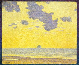 Big Clouds, 1893 by Rysselberghe | Painting Reproduction