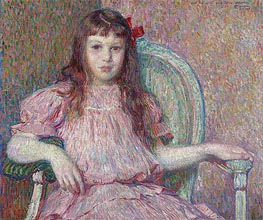 Portrait of Sylvie Lacombe, 1906 by Rysselberghe | Painting Reproduction