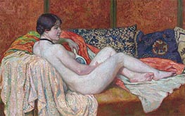 Resting Nude Model, 1914 by Rysselberghe | Painting Reproduction