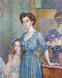 Mme Bodenhausen with a Child, 1910 by Rysselberghe | Painting Reproduction