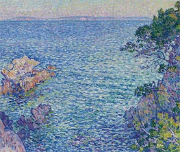 La pointe du Rossignol, 1904 by Rysselberghe | Painting Reproduction