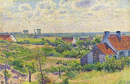 Landscape with Houses, 1894 by Rysselberghe | Painting Reproduction