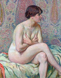 Seated Nude, 1916 by Rysselberghe | Painting Reproduction