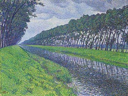 Canal in Flanders, 1894 by Rysselberghe | Painting Reproduction