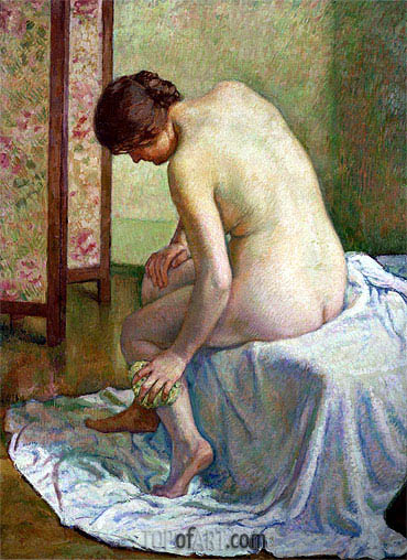 The Bather, undated | Rysselberghe | Gemälde Reproduktion