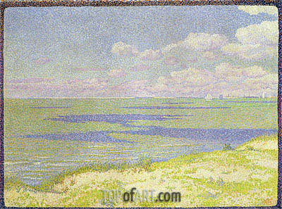 View of the River Scheldt, 1893 | Rysselberghe | Gemälde Reproduktion