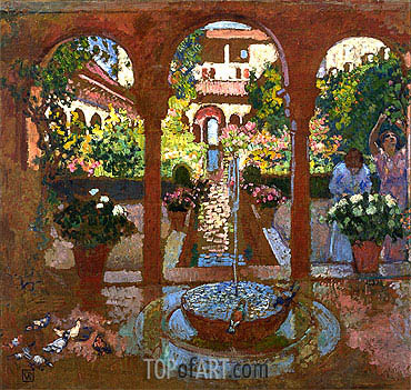 Garden and Arcade, undated | Rysselberghe| Painting Reproduction