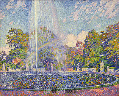 Rysselberghe | Fountain in the Park of Sanssouci Palace near Potsdam, 1903