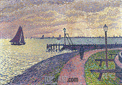 Entrance to the Port of Volendam, c.1896 | Rysselberghe| Painting Reproduction
