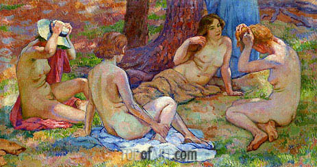 Four Bathers, undated | Rysselberghe | Painting Reproduction