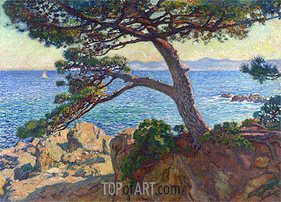 Le Pin de la Fossette, 1919 | Rysselberghe| Painting Reproduction