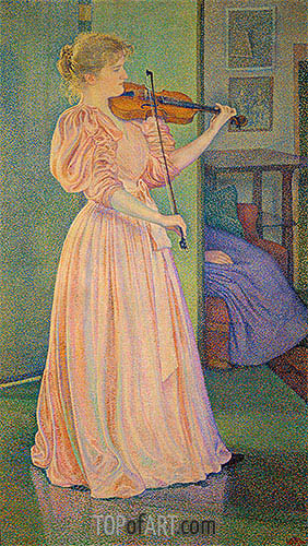 Irma Sethe, 1894 | Rysselberghe | Painting Reproduction