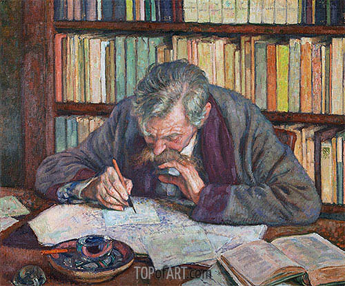 Emile Verhaeren, 1915 | Rysselberghe| Painting Reproduction