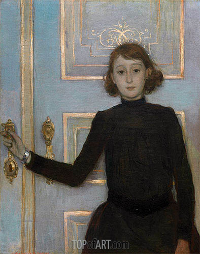 Portrait of Margueritte van Mons, b.1926 | Rysselberghe | Painting Reproduction