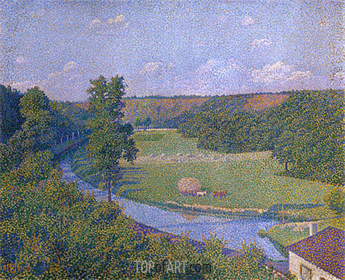 The Valley of the Sambre, b.1926 | Rysselberghe| Painting Reproduction