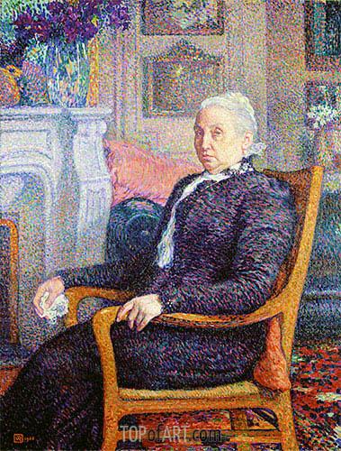 Madame Monnom, 1900 | Rysselberghe | Gemälde Reproduktion