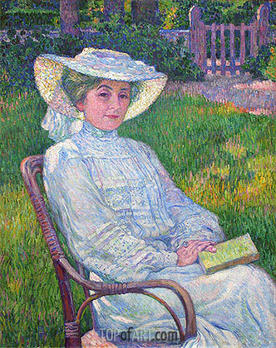 Lady in White (Portrait of Mrs. Theo Van Rysselberghe), 1926 | Rysselberghe | Gemälde Reproduktion