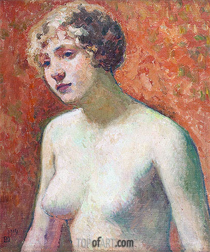 Bust of a Young Girl, 1914 | Rysselberghe | Gemälde Reproduktion