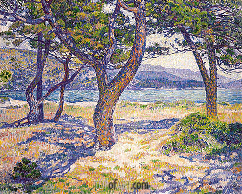 The Mediterranean at Le Lavandou, 1904 | Rysselberghe| Painting Reproduction