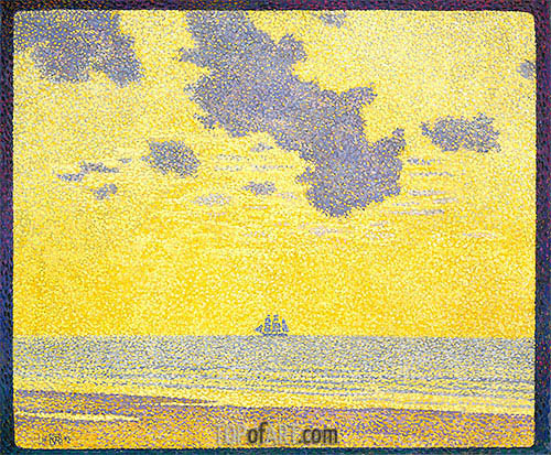 Big Clouds, 1893 | Rysselberghe | Gemälde Reproduktion