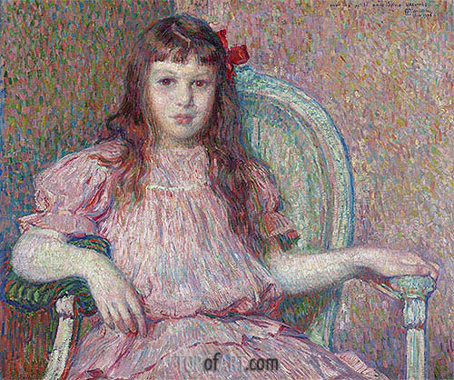 Portrait of Sylvie Lacombe, 1906 | Rysselberghe | Gemälde Reproduktion