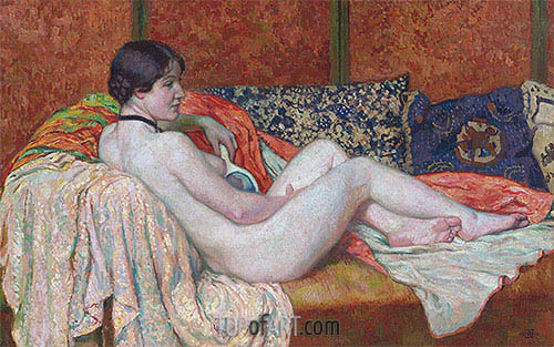 Resting Nude Model, 1914 | Rysselberghe| Painting Reproduction