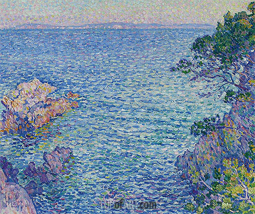 La pointe du Rossignol, 1904 | Rysselberghe | Painting Reproduction