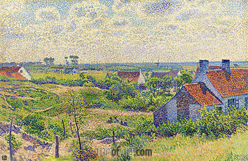 Landscape with Houses, 1894 | Rysselberghe | Painting Reproduction