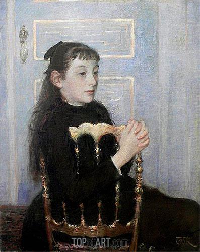 Portrait of Camille van Mons, 1886 | Rysselberghe | Gemälde Reproduktion