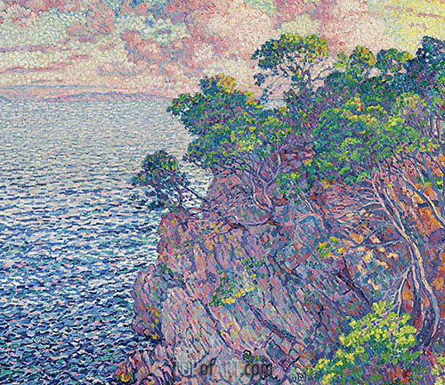 La pointe du Rossignol (Cap Layet), 1905 | Rysselberghe | Painting Reproduction