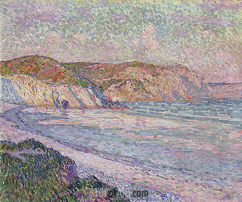 Morgat Beach, 1904 | Rysselberghe| Painting Reproduction