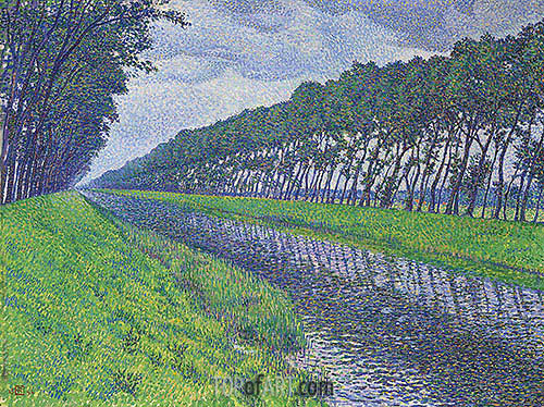 Canal in Flanders, 1894 | Rysselberghe | Gemälde Reproduktion
