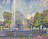 Fountain in the Park of Sanssouci Palace near Potsdam | Theo van Rysselberghe