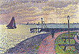 Entrance to the Port of Volendam | Theo van Rysselberghe